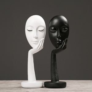 Resin Crafts Abstract Art Face Mask Character Sculpture - Targen