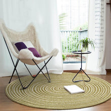 Load image into Gallery viewer, Hand Hooked Rugs Round Solid Carpet Chair Mat For Living Room Bedroom - Targen