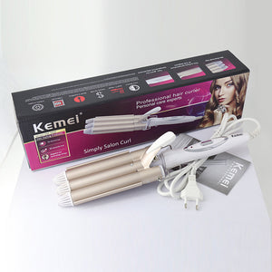 Professional Curling Iron Ceramic Triple Barrel Hair Waver Styling Tools - Targen