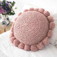Load image into Gallery viewer, Round Throw Pillow Sofa Bed Chair Couch Cushion
