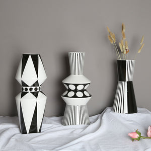 Scandinavian Geometric Ceramic Vase Table Countertop Vase - Targen