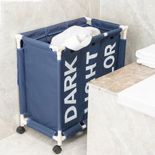 Load image into Gallery viewer, Rolling Laundry Basket Organizer 3 Grid Large Laundry Hamper Bin - Targen