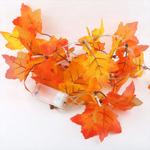 Load image into Gallery viewer, Maple Leaf Garland String Lights 3PCS for Halloween