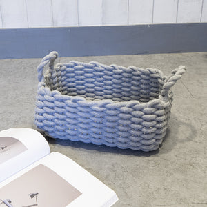 Simple Hand-knitted Storage Box Cotton Rope Storage Basket - Targen