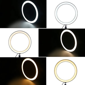 Phones Holder Stands with LED Beauty Ring Flash Lamp Light - Targen