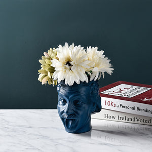 Creative Einstein Vase Funny Pen Holder Storage Jar Flower Decoration - Targen