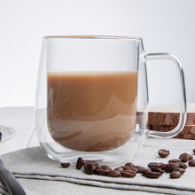 Load image into Gallery viewer, Double Coffee Mugs With the Handle Mugs Drinking Insulation Double Wall Glass - Targen