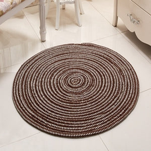Hand Hooked Rugs Round Solid Carpet Chair Mat For Living Room Bedroom - Targen