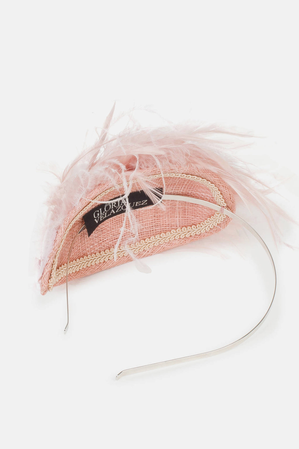 Julia Headdress - Nude Pink
