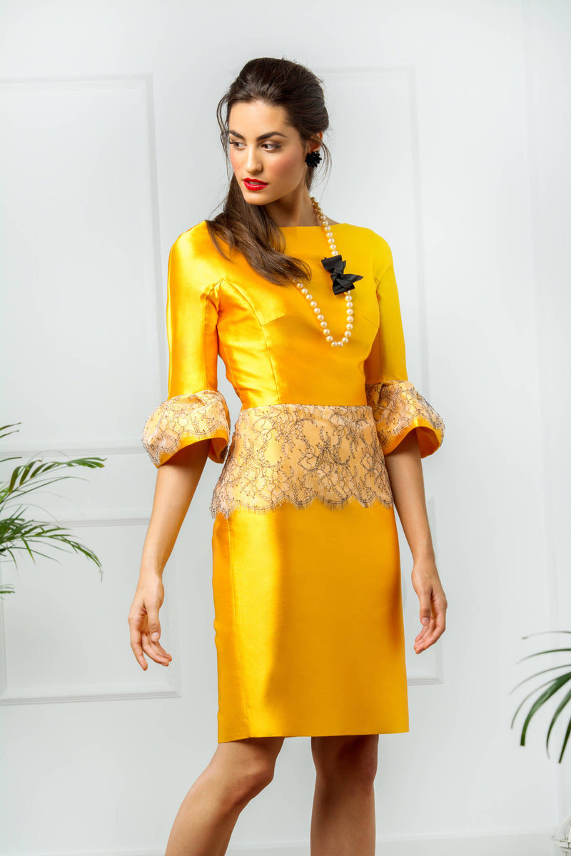 Madeleine Dress - Yellow