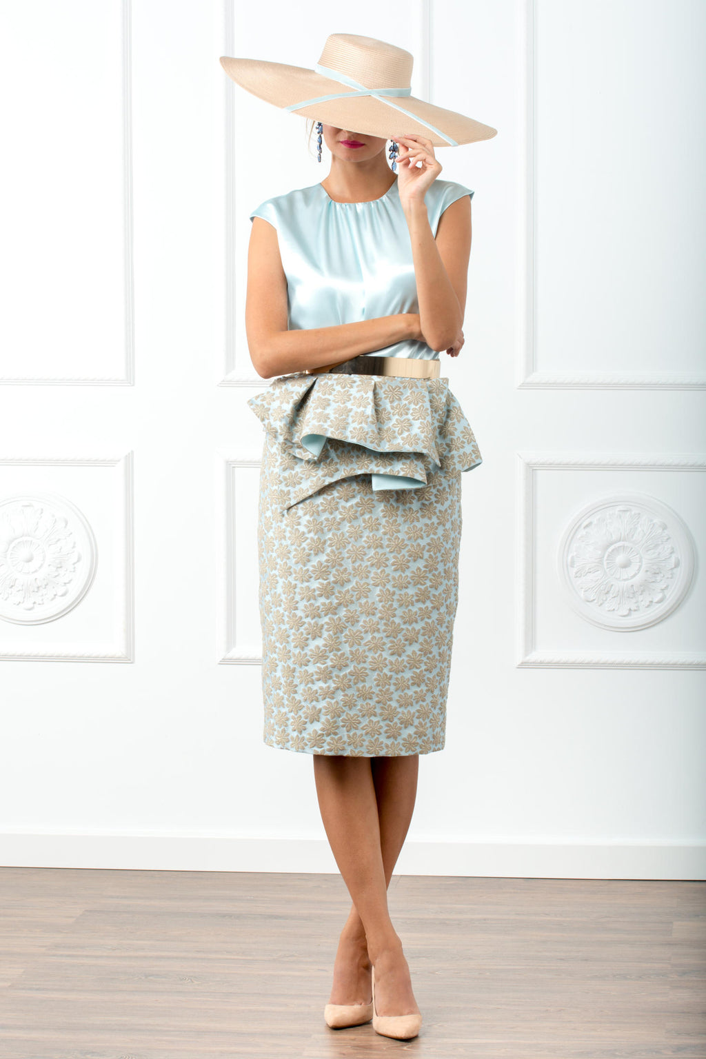 Katty Skirt Set - Blue