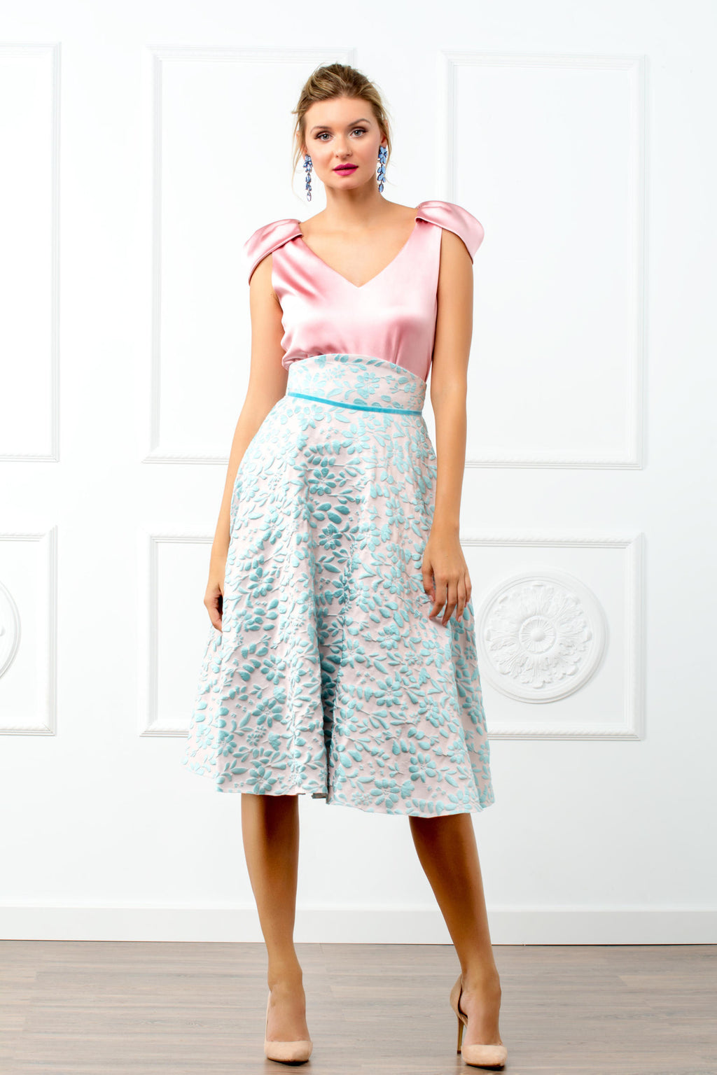 Seal Skirt Set - Blue and Pink