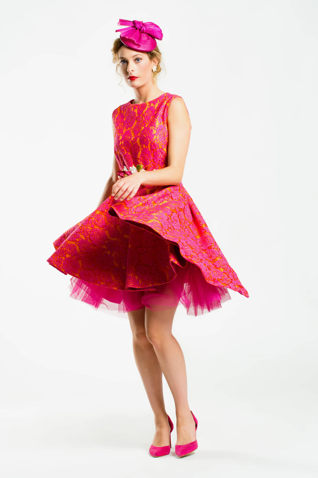 Brussels II dress- Fuxia