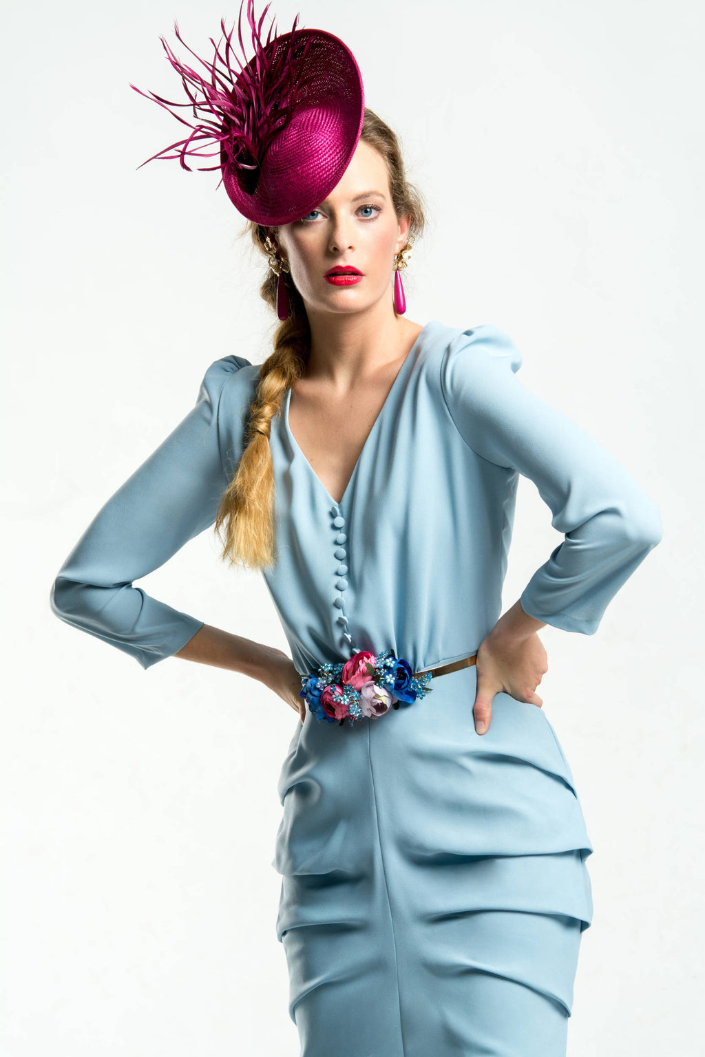 New Drap Dress - Sky Blue