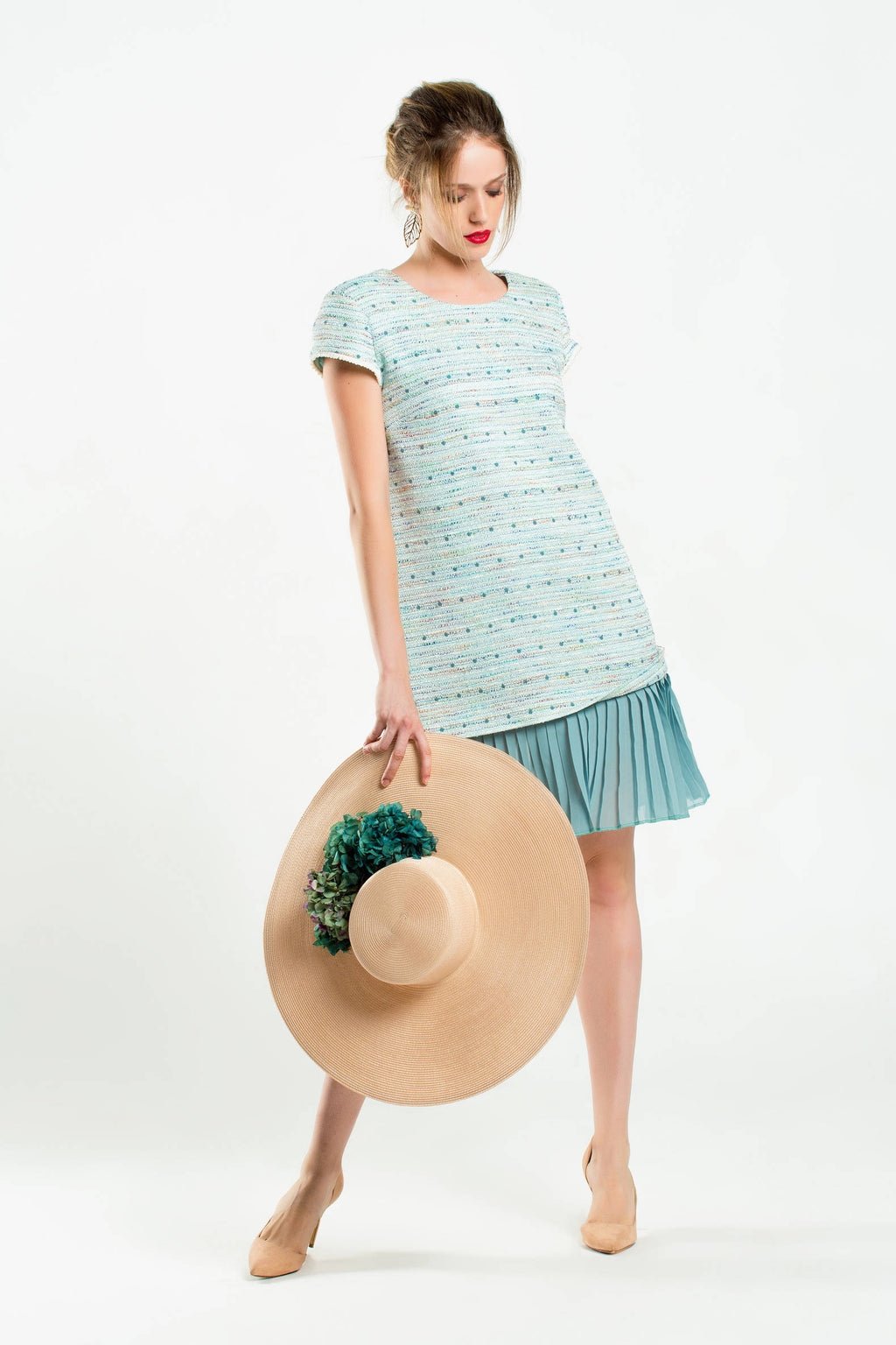 Lisa Dress - Aqua Green