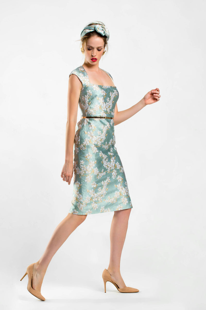 Alba Dress - Aqua Green