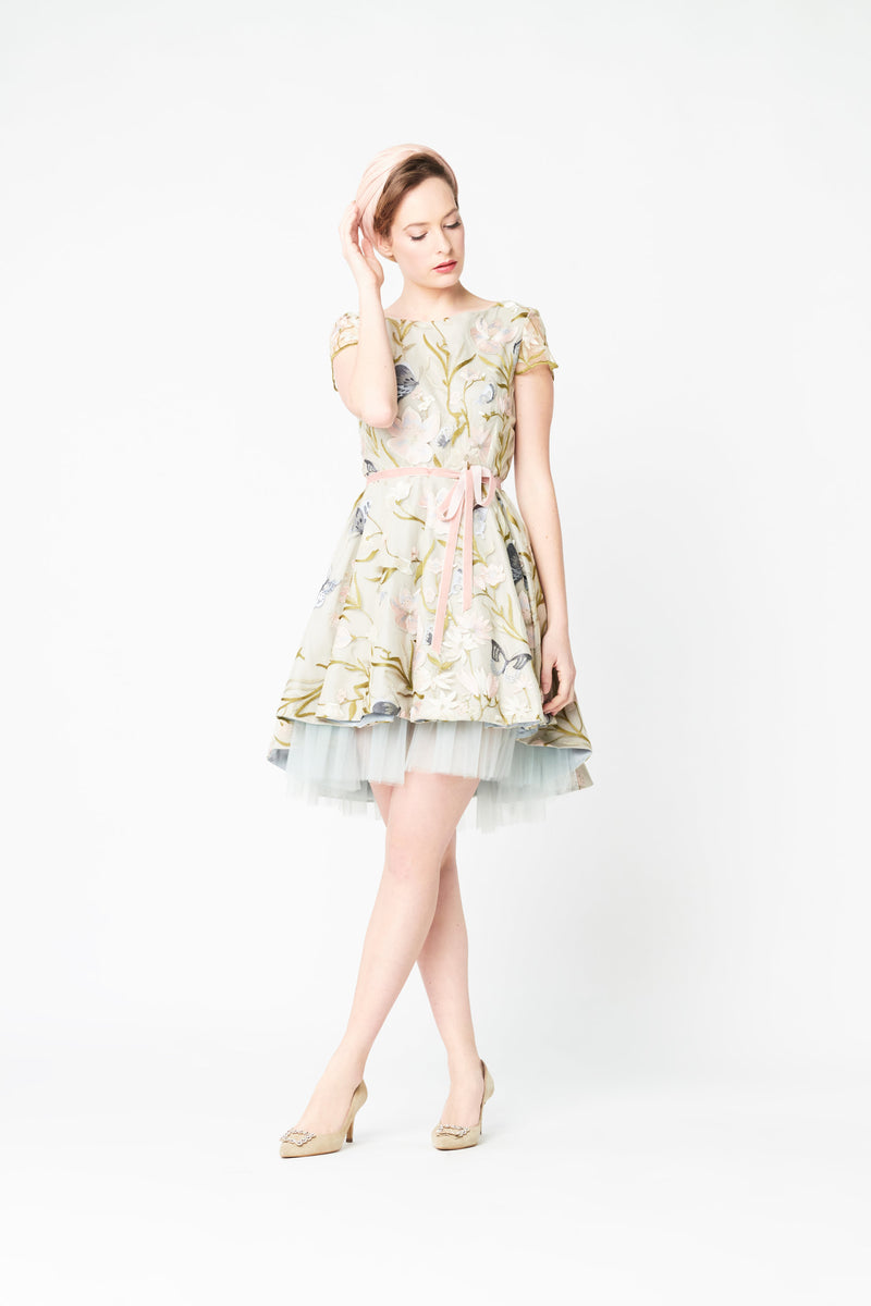 Brussels Butterfly Dress - Beige
