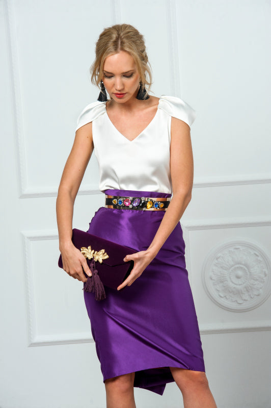 Draped Skirt - Purple