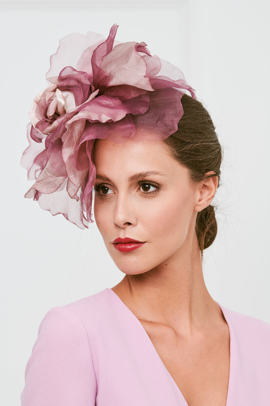 Ana Flower Headdress - Mauve