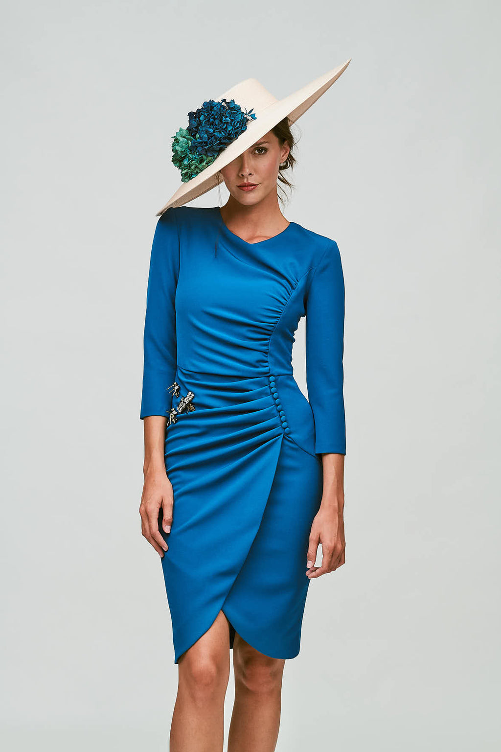 Beth Autumn Dress - Blue