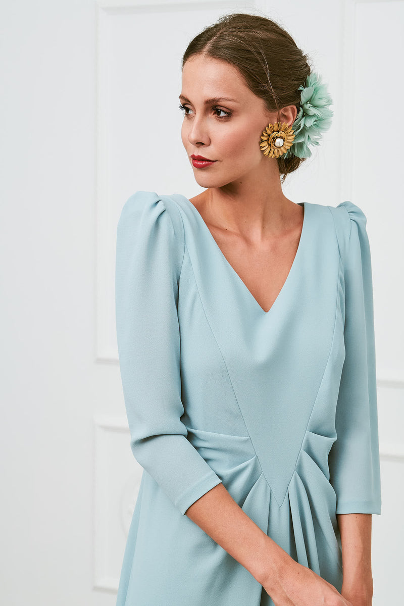Boxwood Dress - Aqua Green