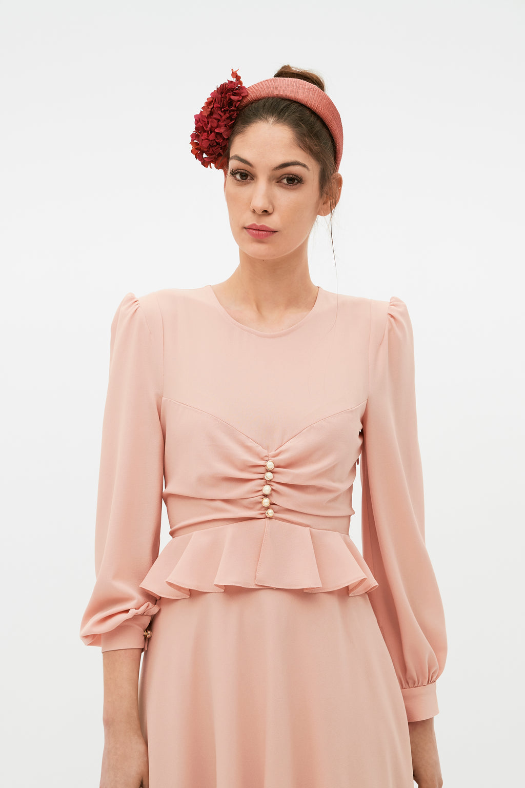 Scarlet Dress - Nude Pink
