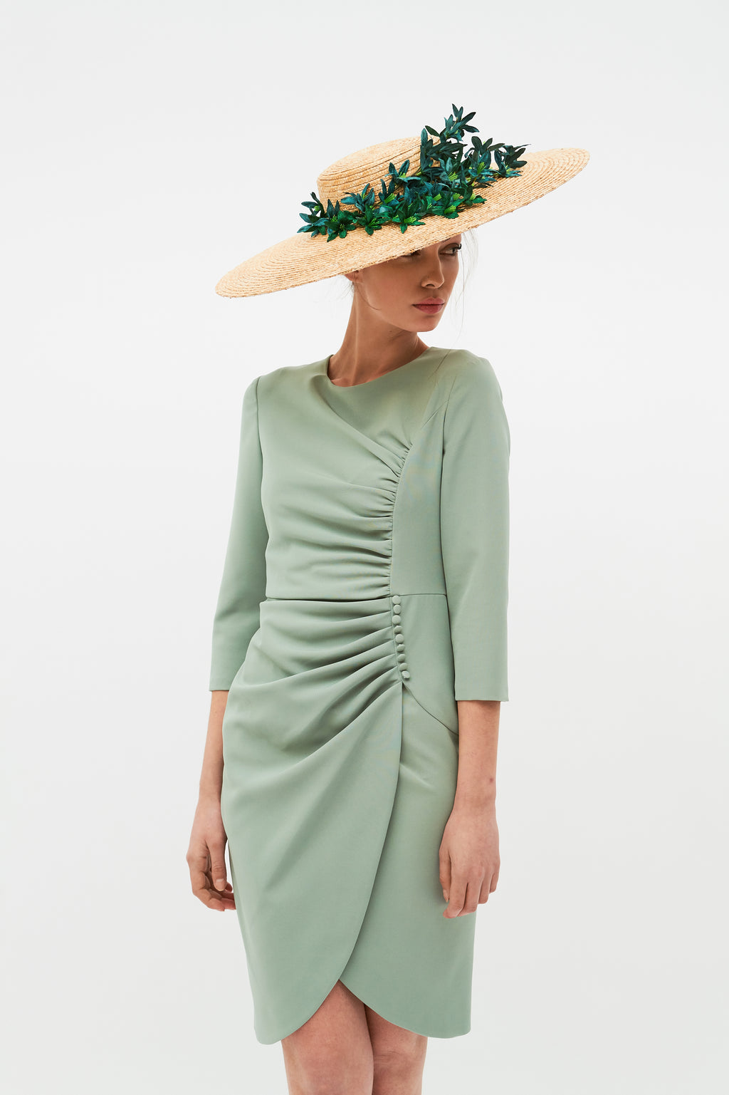Beth Dress - Aqua Green
