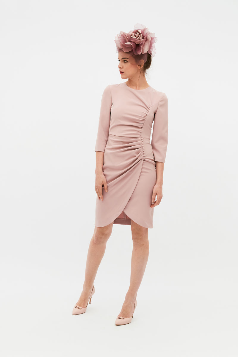 Beth Autumn Dress - Pink