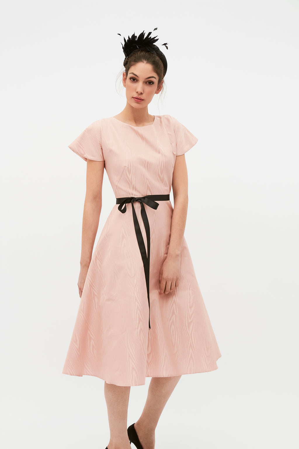 Adele Dress - Nude Pink
