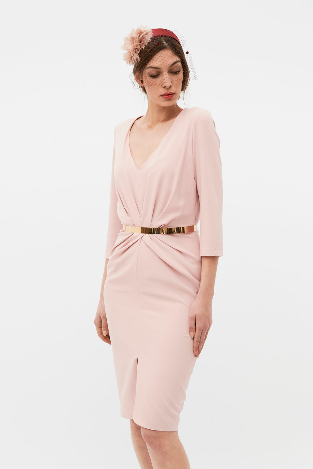 Petit Blume Dress - Nude Pink
