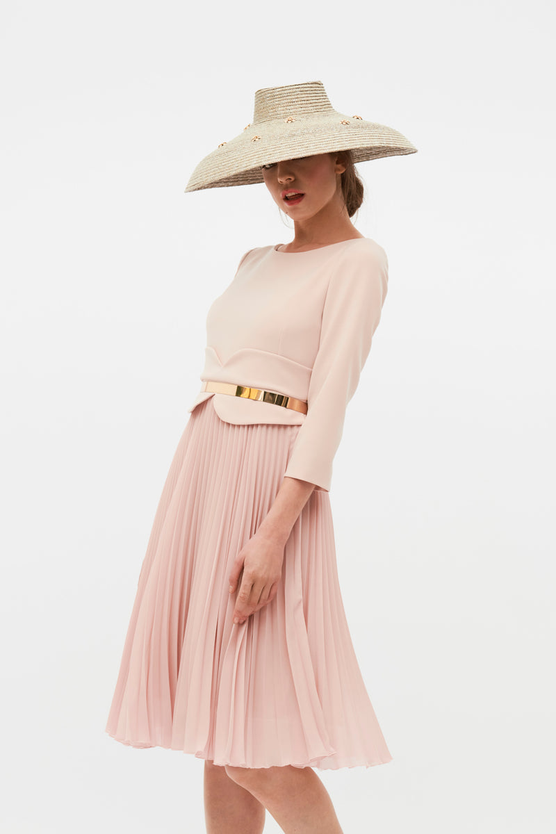 Marisol Dress - Nude Pink