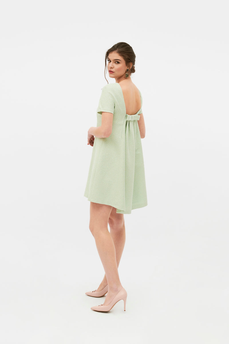 Olga Dress - Lime Green
