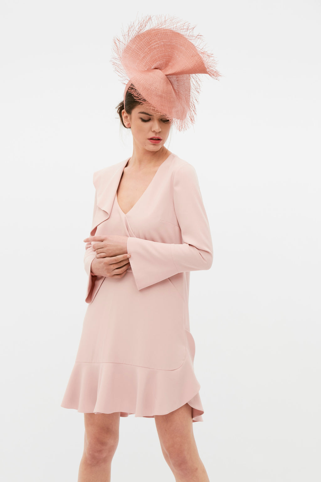 Sofia Dress - Nude Pink