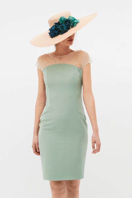 L. Mery Pearl Dress - Aqua Green