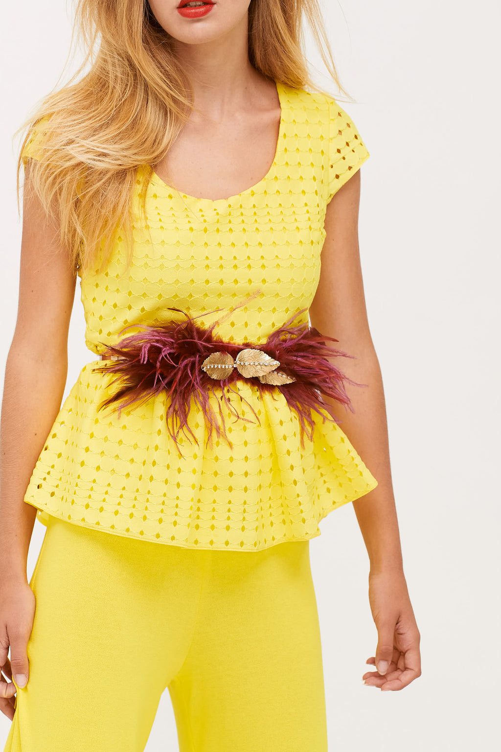 Filomena Yellow Top, ideal for any occasion.
