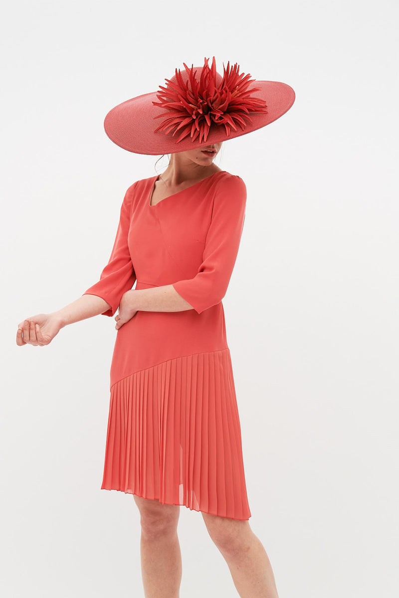 Leticia dress - Coral