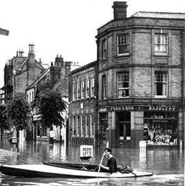 Shop front flooded