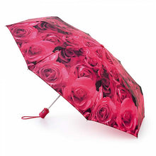 Load image into Gallery viewer, Fulton Open & Close-4 Rose Print Umbrella