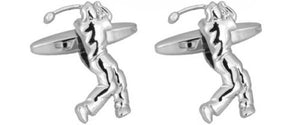 Golfer Cut Out Rhodium plated Cufflinks