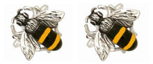 Load image into Gallery viewer, Bee Rhodium Plated Cufflinks