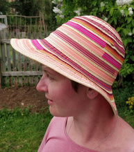 Load image into Gallery viewer, Ladies Ribbon Sunhat - Red/Orange