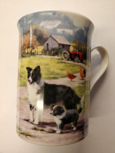 Collie Dog with Sheep Mug