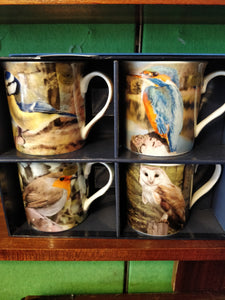 Set of 4 Bird Mugs