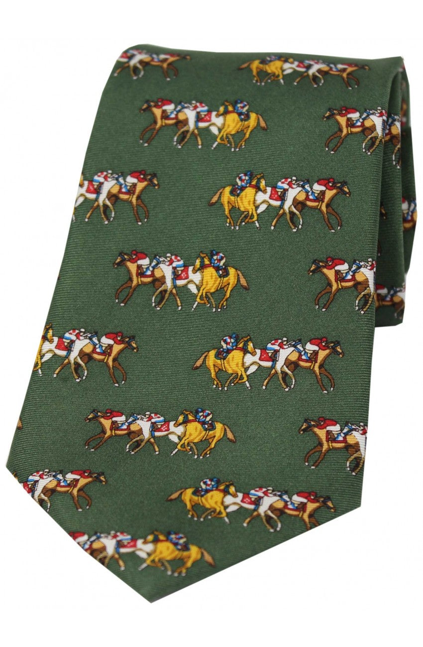 Country Race Horse Silk Tie