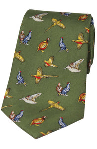 Country Birds Silk Tie