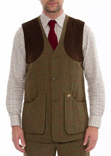 Load image into Gallery viewer, Alan Paine Combrook Mens Tweed Shooting Waistcoat