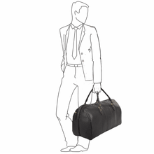 Load image into Gallery viewer, Ashwood Charles Large Leather Holdall
