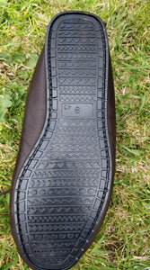 Mens Leather Moccasin Slippers With Cotton Lining