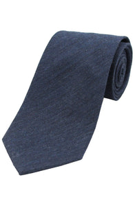 Country Plain Navy Wool Tie