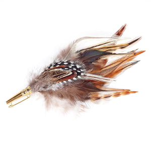 Feather Mount Hat Brooches
